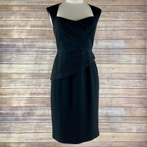 Anthro Maple Unequivocal Sweetheart Black Dress
